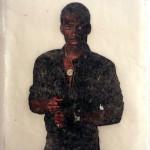 Eddie in Abaca, Cut-out in handmade paper, 2013