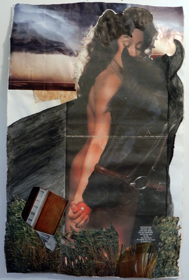 Contradiction, Collage and inkjet print on handmade paper, 2012