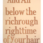Richrough Rightime (For Gwendolyn Brooks), Letterpress on paper, 2011