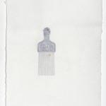 Black Power I, Afropick in handmade paper, 2013