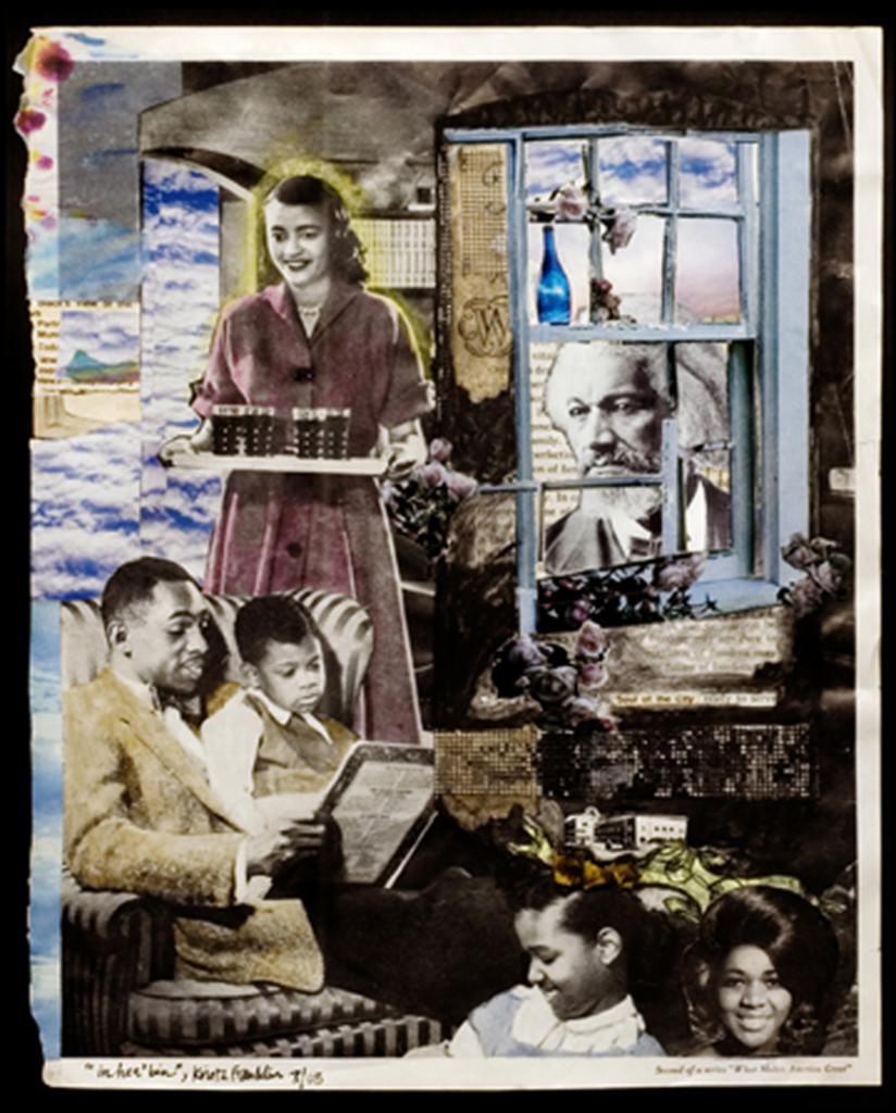 In Hea'bin, Collage on vintage magazine page, 2009