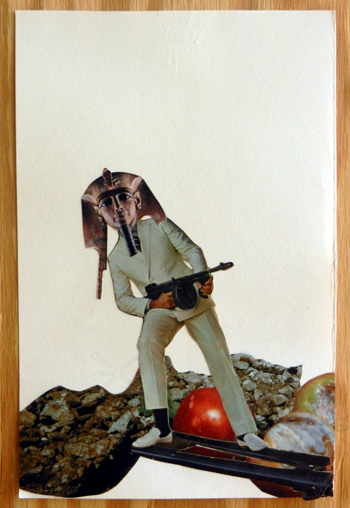 Tommy Gun Tut, Collage on paper, 2013