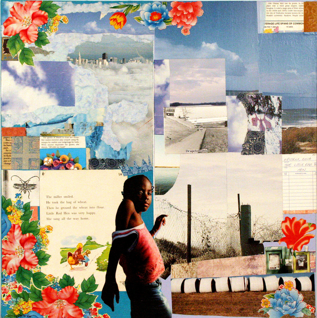 Wanderlust Wonderland, Collage on canvas, 2008