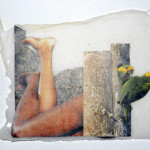 Look & Lounge, Collage in handmade paper, 2012