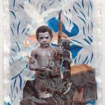 My Beautiful Twisted Dark Fantasy, Mixed media on handmade paper, 2011