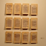"Of Those Who Have Obtained the Position of Prince by Villainy, Altered Book, Notorious B.I.G.'s ""Ten Crack Commandments"" lasercut on the book pages of Machiavelli's The Prince, 2011"