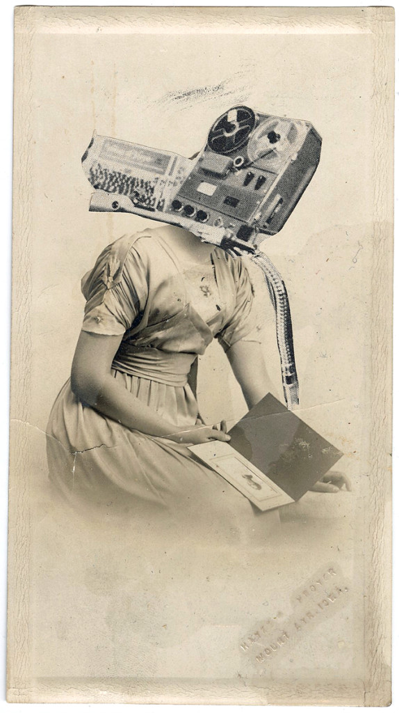 Radiohead, Collage on antique photograph, 2011