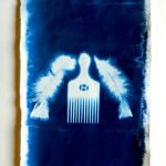 Afropicyan, Cyanotype on handmade paper, 2011
