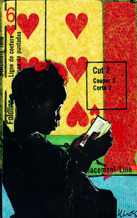 Reading is Fundamental (R.I.F.), Collage on notebook, 2008