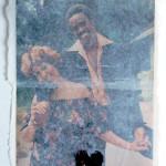 Retha & Glenn, Vintage EBONY magazine page in handmade paper, 2012
