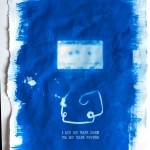I Let My Tape Rock, Cyanotype and letterpress on handmade paper, 2012